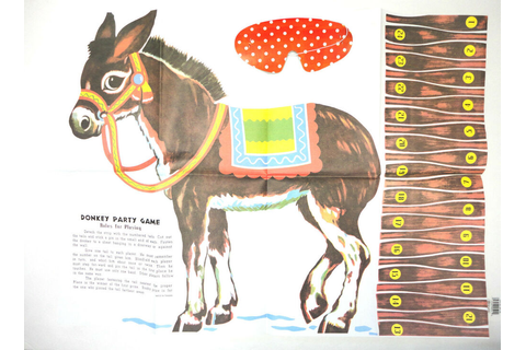 Pin The Tail On Donkey Party Game Carnival Party Favors ...