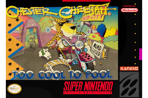 Chester Cheetah Too Cool To Fool SNES Super Nintendo