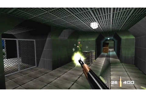 Goldeneye 007 Nintendo 64 Walkthrough - Part one: Dam [HD ...