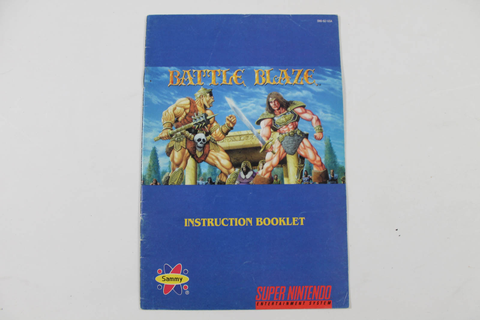 Manual - Battle Blaze - Snes Super Nintendo