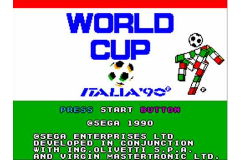 World Cup Italia '90 Master System Title Music - YouTube