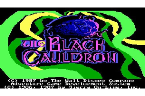The Black Cauldron gameplay (PC Game, 1986) - YouTube