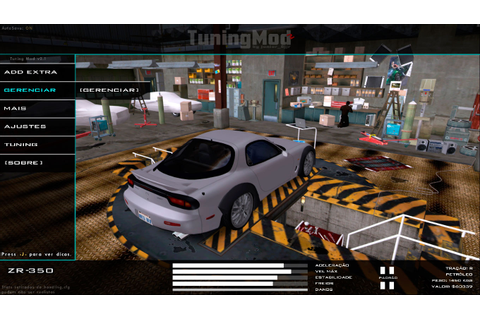 Garagem do NFS World para Tuning Mod - Tuning Mod Parts ...