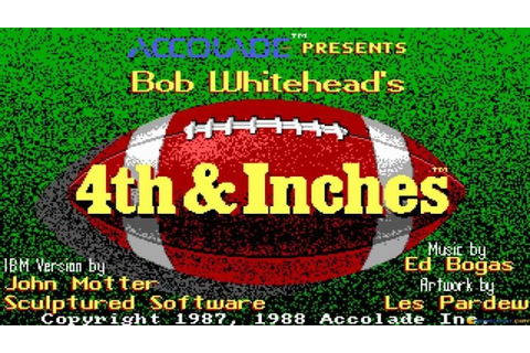 4th and Inches gameplay (PC Game, 1987) - YouTube