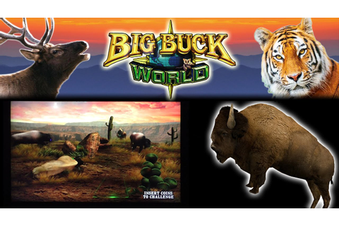 Hunting Bison in BIG BUCK WORLD - Arcade Video Game - YouTube