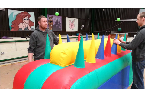 Air Ball Challenge Inflatable Game - YouTube