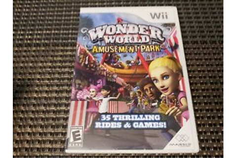 Wonder World Amusement Park (Nintendo Wii Game) Complete ...