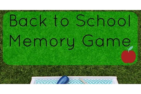 Back to School Memory Game - Play and Learn Every Day