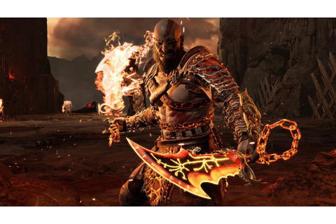 BLADE OF CHAOS GAMEPLAY SHOWCASE!! God of War Combos ...