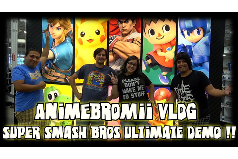 ABM Vlog: Super Smash Bros Ultimate Demo Game At Best Buy ...