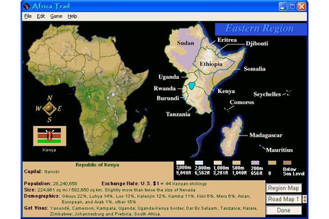 Africa Trail Download (1997 Educational Game)