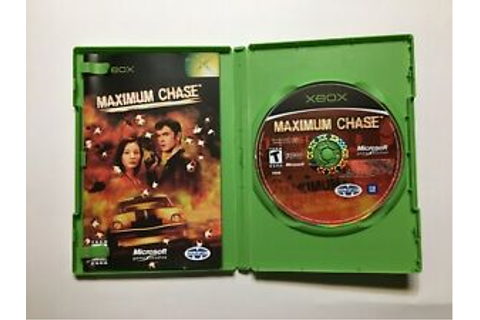 Maximum Chase Complete CIB Microsoft Xbox Video Game ...