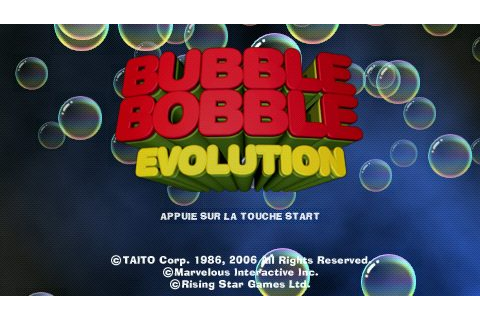 Bubble Bobble Evolution (2006) by Opus PSP game