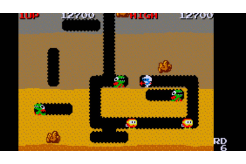 Dig Dug gameplay - YouTube