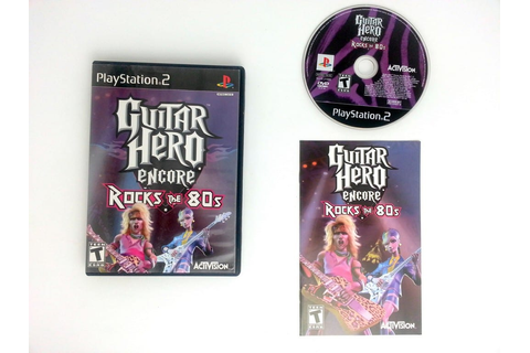 Guitar Hero Encore Rocks the 80's game for Playstation 2 ...