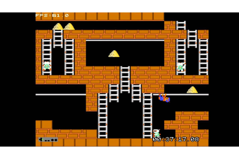 Lode Runner (NES 1984) Complete Game Stage 19~Stage 26 ...