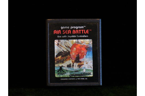 Vintage 1981 Atari 2600 Air Sea Battle Video Game Cartridge