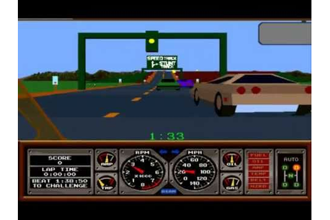 Hard Drivin Arcade - YouTube