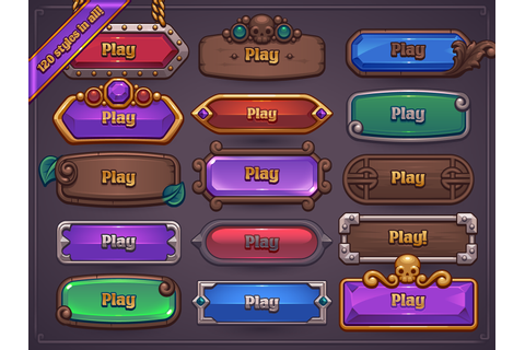 Fantasy Game Button Maker on Behance