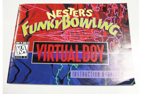 Manual - Nester's Funky Bowling - Virtual Boy