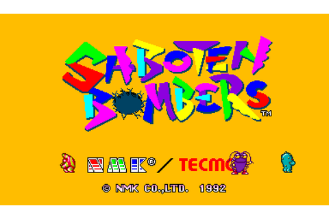Saboten Bombers (1992) by NMK / Tecmo Arcade game