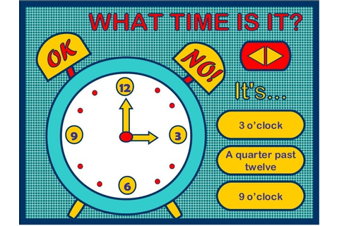 TELLING THE TIME - PPT GAME