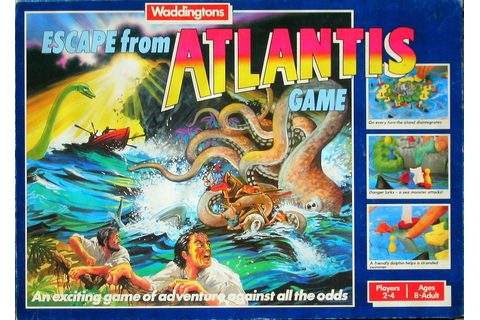 Escape From Atlantis Board Game Review - Nostalgia Nerd