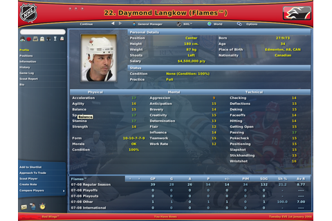 NHL Eastside Hockey Manager 2007 Download Free Full Game ...