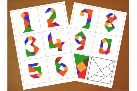 Downloadable Tangram Cards - Tangram Numbers - Tangram ...