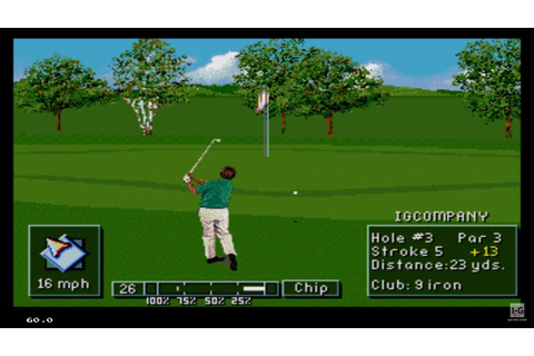 PGA Tour Golf III (1994) Sega Genesis Gameplay HD - YouTube