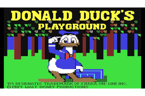 Donald Duck's Playground (1984) - Let's C64 {GERMAN} - YouTube
