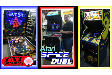 #1184 Atari SPACE DUEL & Bally SUPER PACMAN Arcade Video ...