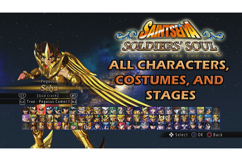 Saint Seiya Soldier's Soul Save Game Complete - YouTube