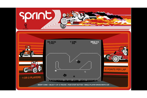 Sprint 2 (1976, Knee Games) - Arcade, Mame emulation with ...
