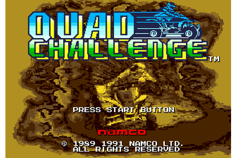 Quad Challenge (1991) by Namco Mega Drive game