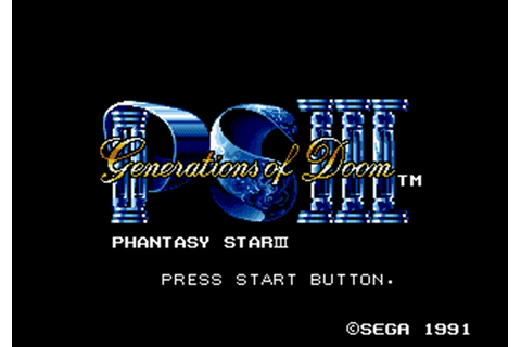 Phantasy Star III: Generations of Doom (Game) | GamerClick.it