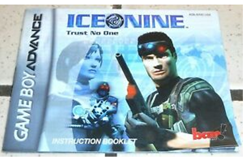 Ice Nine MANUAL ONLY Nintendo Game Boy Advance GBA ...