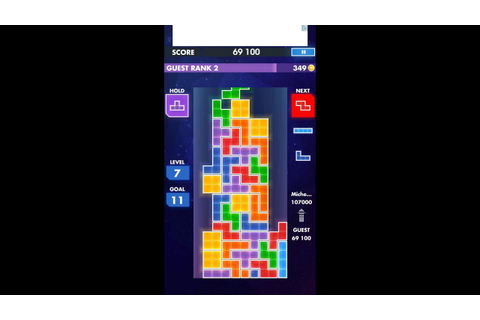 Game replay: TETRIS EA games on Android phone/tab. - YouTube