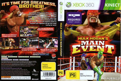 Games Covers: Hulk Hogan Main Event - Xbox 360
