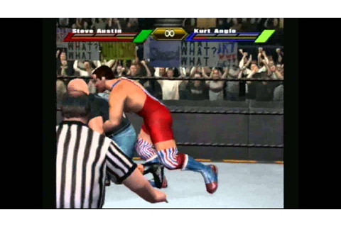 WWF Stone Cold vs Kurt Angle Wrestlemania X8 (Gamecube ...