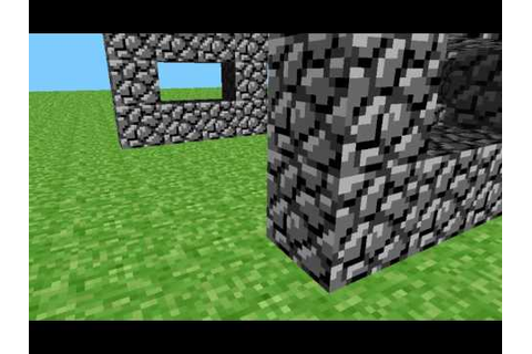 First version of minecraft or cave game - YouTube