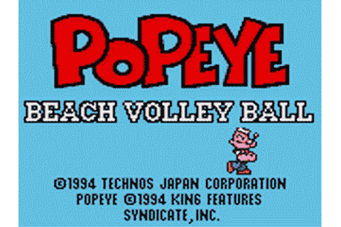 Popeye Beach Volley Ball Details - LaunchBox Games Database