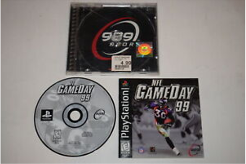NFL GameDay 99 Playstation PS1 Video Game Complete ...