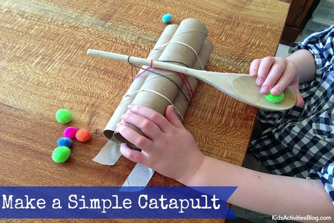 Building a Catapult for Kids {Simple Catapult = Catapult ...