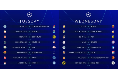 Champions League schedule for US TV and streaming for ...