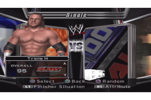 WWE Smackdown vs Raw 2006 Character Select Screen ...