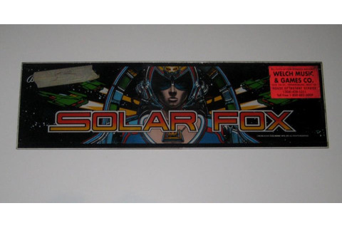 Bally Midway Solar Fox Mini Cabaret Arcade Game Marquee ...