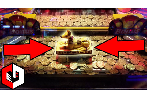 Winning The Coin Pusher JACKPOT! | Ticket Wins at Pharaohs ...