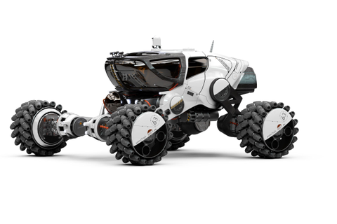 Mars 9 Rover 3/4 view | Concept cars, Futuristic cars ...