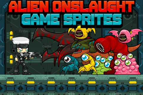 Alien Onslaught - Game Sprites | Custom-Designed ...